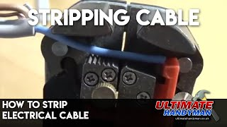 How to strip electrical twin core and earth cable