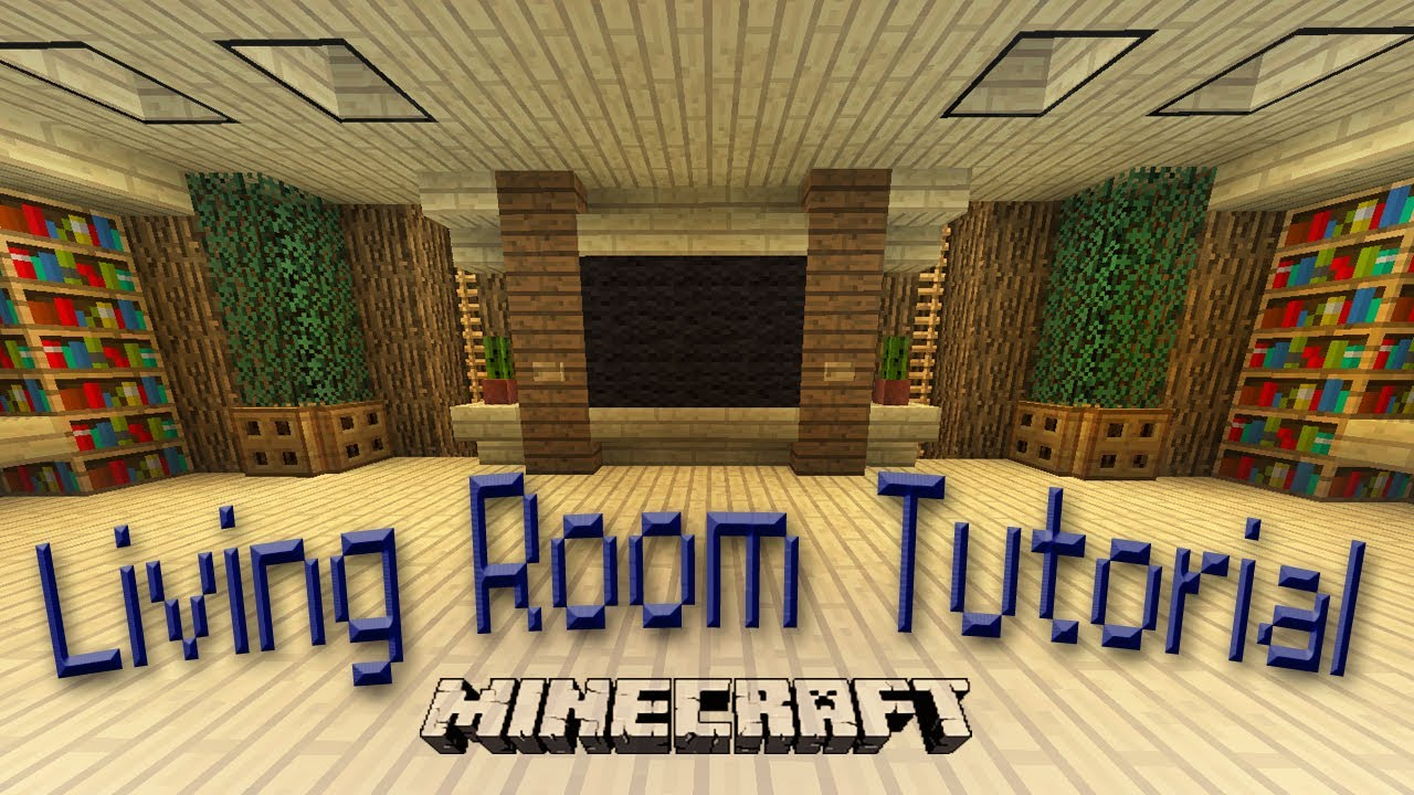 Minecraft how to make an awesome living room design youtube for Minecraft dining room designs