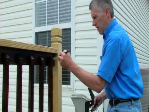 how to apply stain to deck spindles one time wood protector youtube. Black Bedroom Furniture Sets. Home Design Ideas