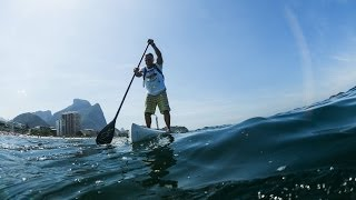 Paddleboarding Competition in Rio de Janeiro