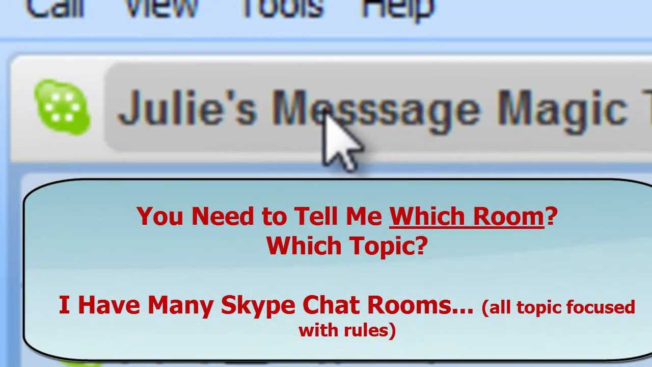 how to join skype public chat room Well, skype doesn't have public chat rooms right now but you may try some other public chat room like omegle, or join some communities you prefer in some sns platforms like facebook, google + or linkedin.