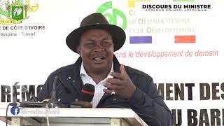 Discours du Ministre Adjoumani - Lancement des travaux de réhabilitation du barrage de Solomougou