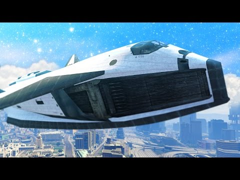 INSANE GTA 5 SPACESHIP! GOING INTO SPACE! (GTA 5 Funny Moments)