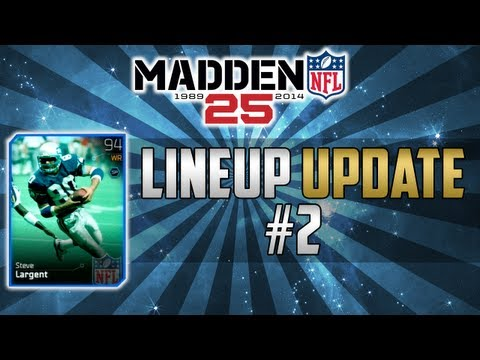 Madden 25 ultimate team lineup update 1 99 short pass chemistry phim video clip - Walter payton madden 15 ...