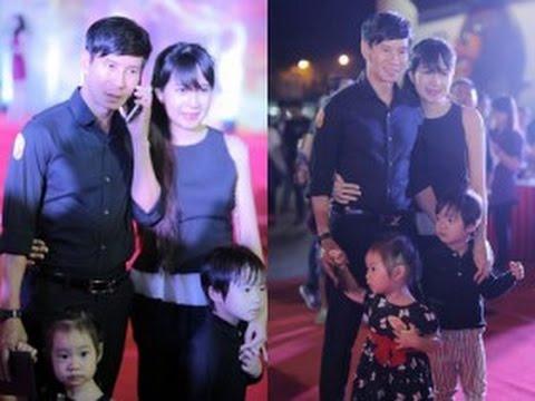 tin tuc sao viet_Vợ chồng Lý Hải đưa hai con đi sự kiện cuối năm