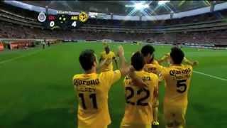 Resumen Chivas 0-4 América J13 CL2014