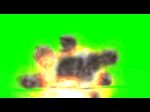 COD grenade falls on the ground and explodes- different views - green screen effects