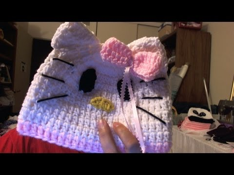 how to crochet &quot;Hello Kitty&quot; beanie -   video one