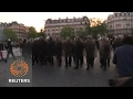 Clashes in Paris as election results announced