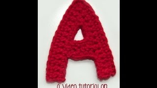 How To Crochet: The Letter A