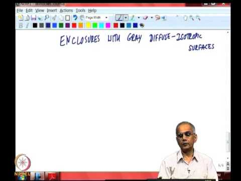 Mod-02 Lec-08 Radiation in enclosures