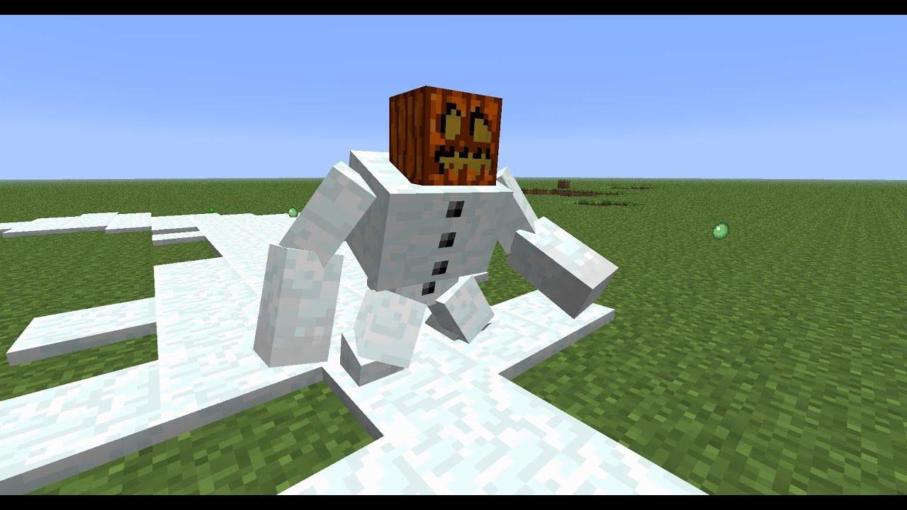 Видео майнкрафт как сделать снеговика