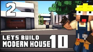 Minecraft Lets Build: Modern House 10 - Part 2 + World Download