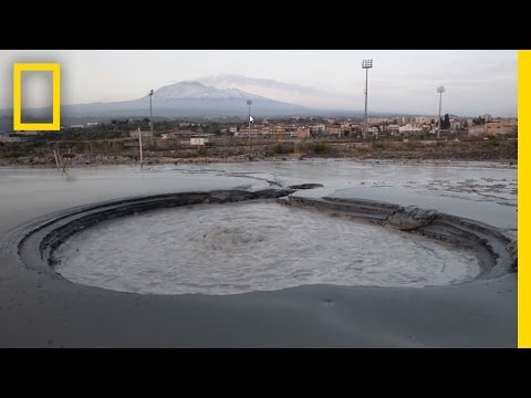 Can This Bubbling Pit Of Mud Really Predict a Volcanic Eruption? | National Geographic