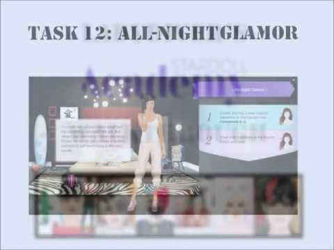 Stardoll Academy Walkthrough Task 12: All-Night Glamor