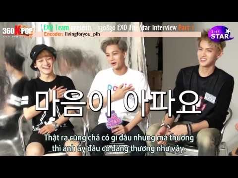 [Vietsub] 130830 EXO The Star Interview Part 1 [EXO Team]