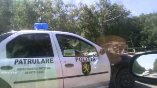 Poliția Patrulare merge fără centura de siguranță