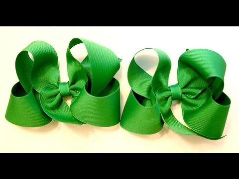 bow tutorial (HOW TO MAKE A TWISTED HAIR BOW) Classic Boutique Style