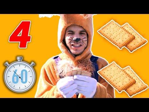 نطنط نهار وأرنوب الحبوب | تحدي أرنوب - أربع بسكوت | Bisquets challenge