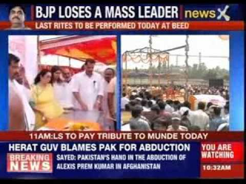 Nation mourns Gopinath Munde's death