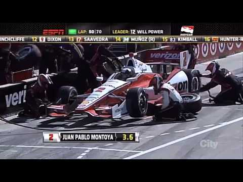 2014 Detroit Dual 1 Juan Pablo Montoya Highlights