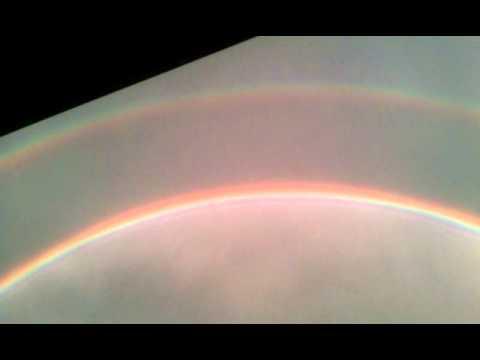 Double Rainbow in Springfield after Joplin Tornado, MO 5/22/2011