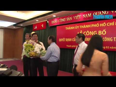 Ông Đinh La Thăng được bổ nhiệm làm Bí thư Thành ủy TP HCM