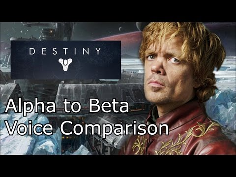 Destiny Beta: Peter Dinklage Voice Comparison
