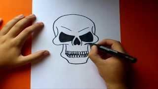 Como Dibujar Una Calavera Paso A Paso How To Draw A