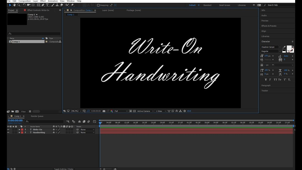 write on after effects Right to left languages are widely used in after effects, but traditionally these languages are not treated like text in after effects we have to instead covert them.