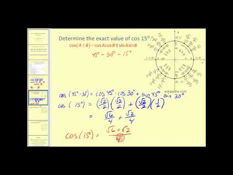 Sum and Difference Identities for Cosine