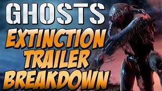 "Call of Duty Ghosts ""EXTINCTION REVEAL TRAILER BREAKDOWN"" BOSS ALIENS, TRAPS, HIVES & More"