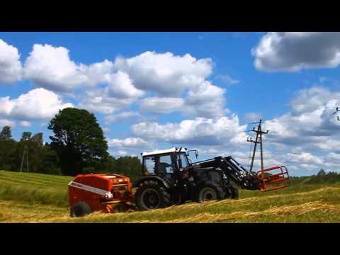 Sianokosy 2014 Farmtrac 675 DT & 690 DT w akcji