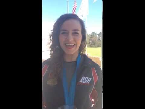 Sarah Scherer wins bronze medal at World Cup USA 3/30/14