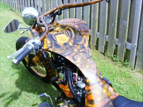 Custom Motorcycle,Evil Elf Airbrush and Codroy Valley Customs, present The Wasp