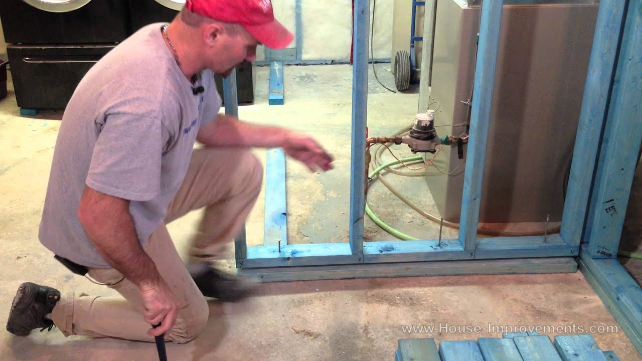 How to install a floating wall system youtube for How to build floating walls in basement