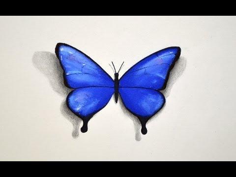 Cómo dibujar con pastel: Una mariposa - Arte Divierte