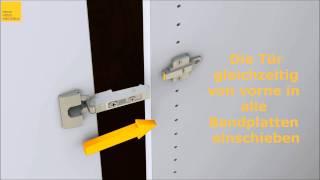 Türen in Schrank einhängen.wmv - YouTube
