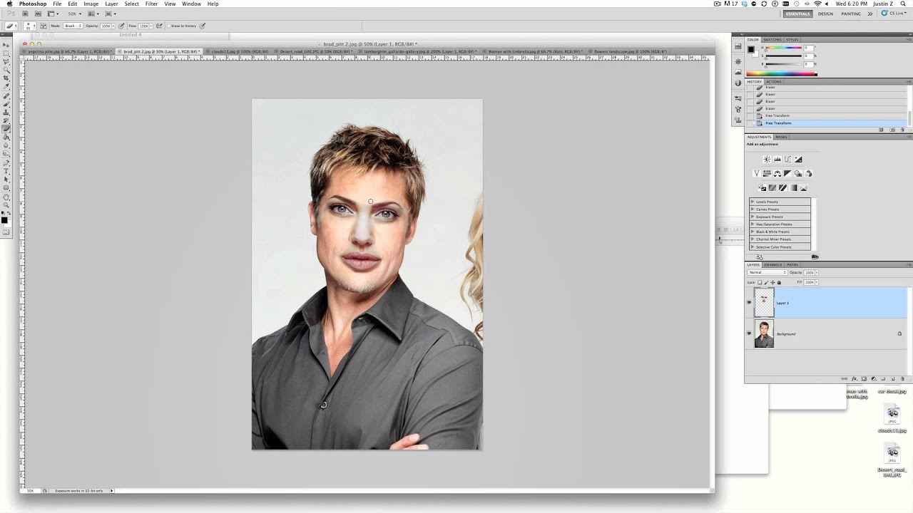 how to put a face on another face photoshop