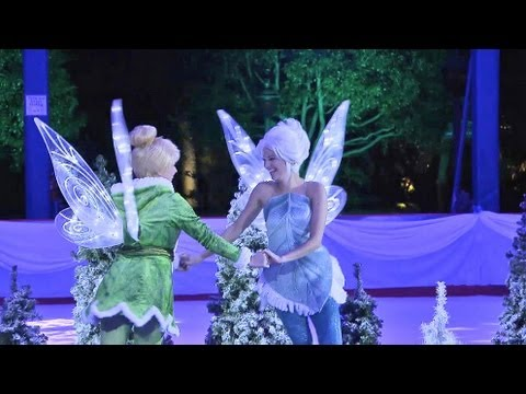 Tinker Bell and Periwinkle open Disneyland's ice rink at Downtown Disney, Visit http://www.InsideTheMagic.net for more from Disneyland! Tinker Bell and her fairy sister Periwinkle helped open the new ice rink in Downtown Disney at ...