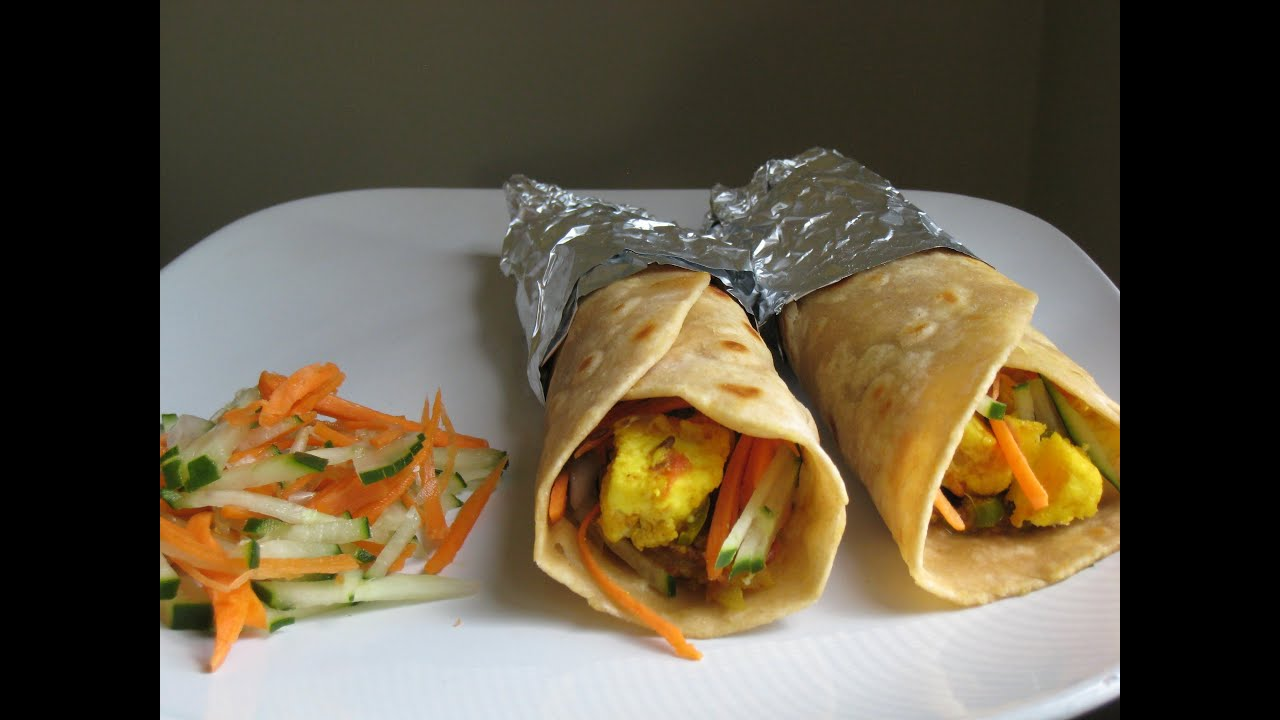 Homemade yummy paratha 'kathi rolls' recipe