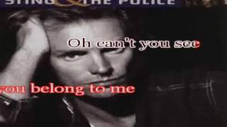 Sting Karaoke- Every Breath You Take