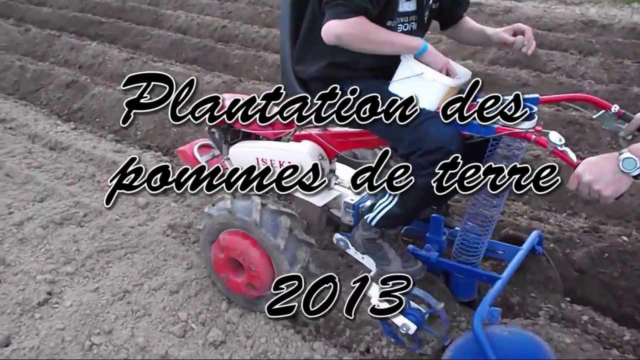 Planteuse de pommes de terre avec motoculteur planting potatoes with tiller youtube - Comment faire partir des abeilles de terre ...