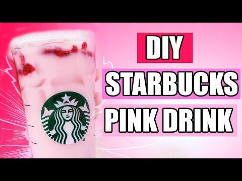 DiY STARBUCKS PiNK DRiNK (STRAWBERRY ACAI REFRESHER) !!! - XOBRUNETTEBARBIE❤