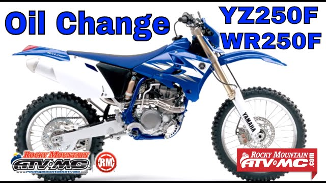 how to change oil filter on 2008 yz250f