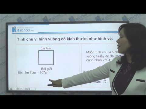 [Toán tiểu học][Toán 3, Toán lớp 3] - Giải toán chu vi hình vuông - [Lika-K12school]