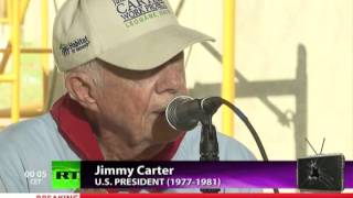 President Jimmy Carter on US Violating Human Rights & Israel, Palestine