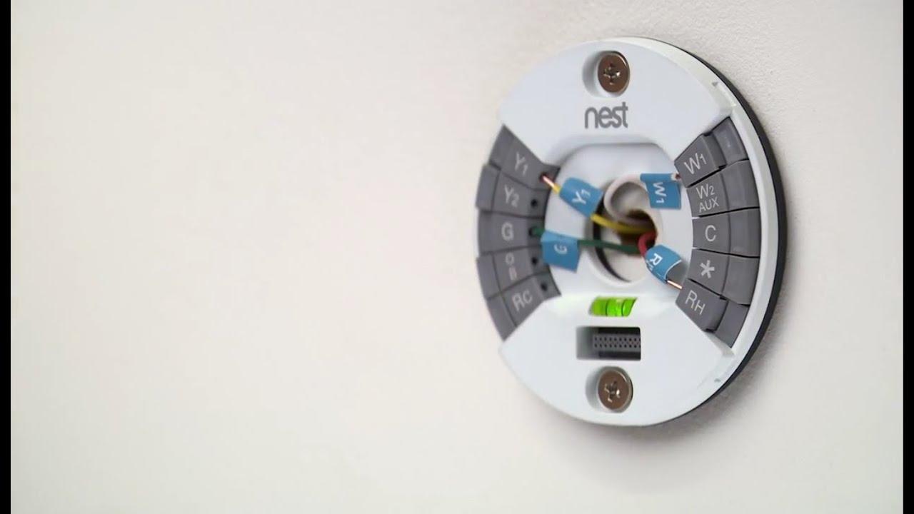 installing nest learning thermostat youtube. Black Bedroom Furniture Sets. Home Design Ideas