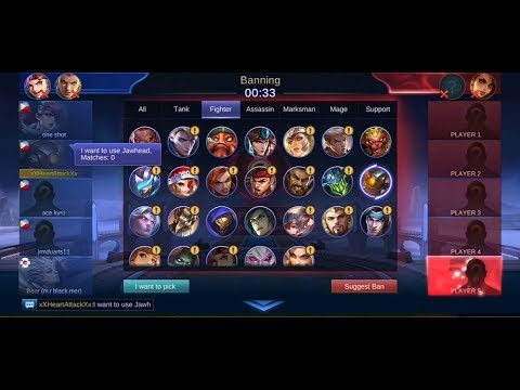 JAWHEAD AGGRESIVE ZERO MATCH MOBILE LEGENDS GAMEPLAY