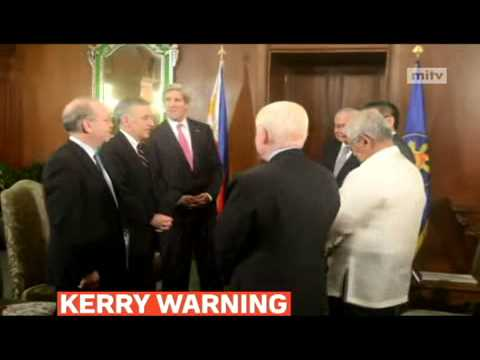 mitv - US Secretary of State John Kerry, in Manila for a two-day visit